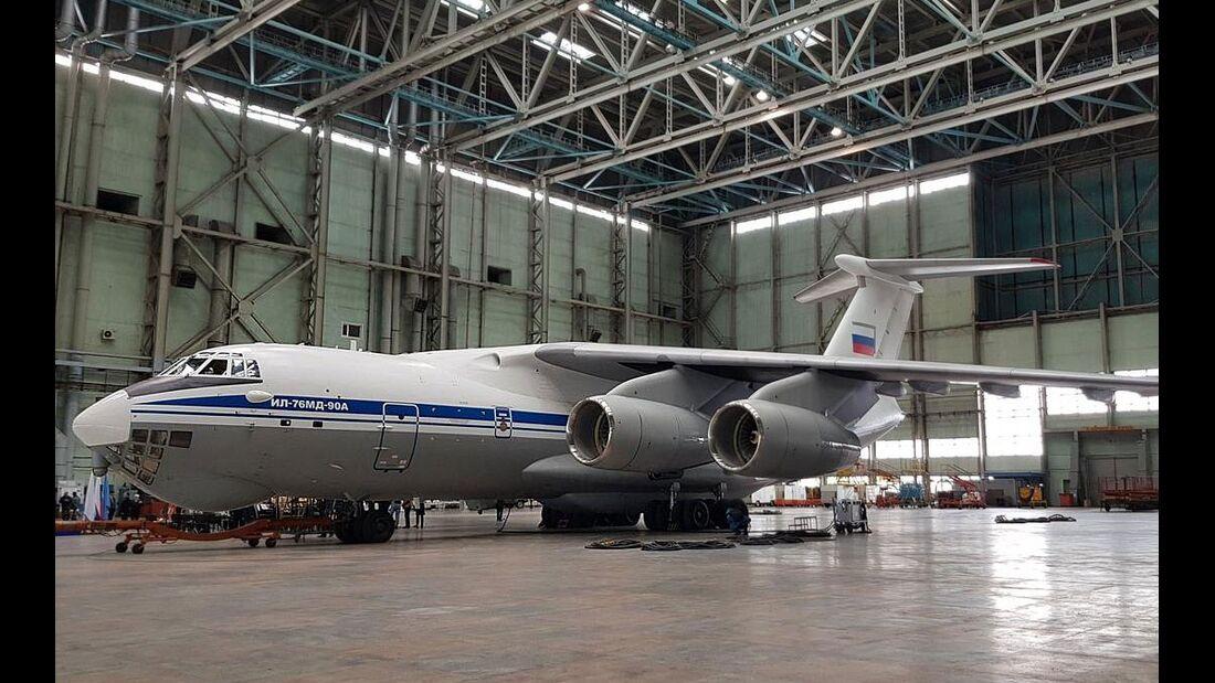 Iljuschin Il-76MD-90A erste Lieferung im April 2019 in Uljanowsk