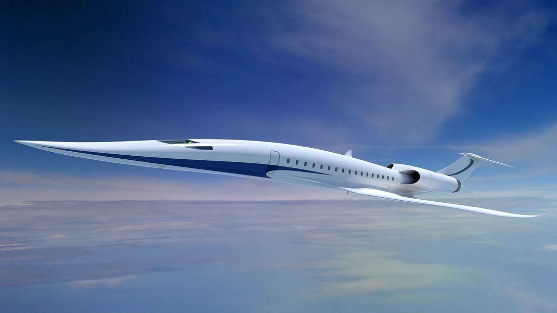 Japanische Flugzeug- und Triebwerkshersteller untersuchen unter Führung der JAXA Technologien für Überschall-Verkehrsjets.