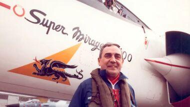 Jean-Marie Saget, ehemaliger Cheftestpilot von Dassault Aviation.