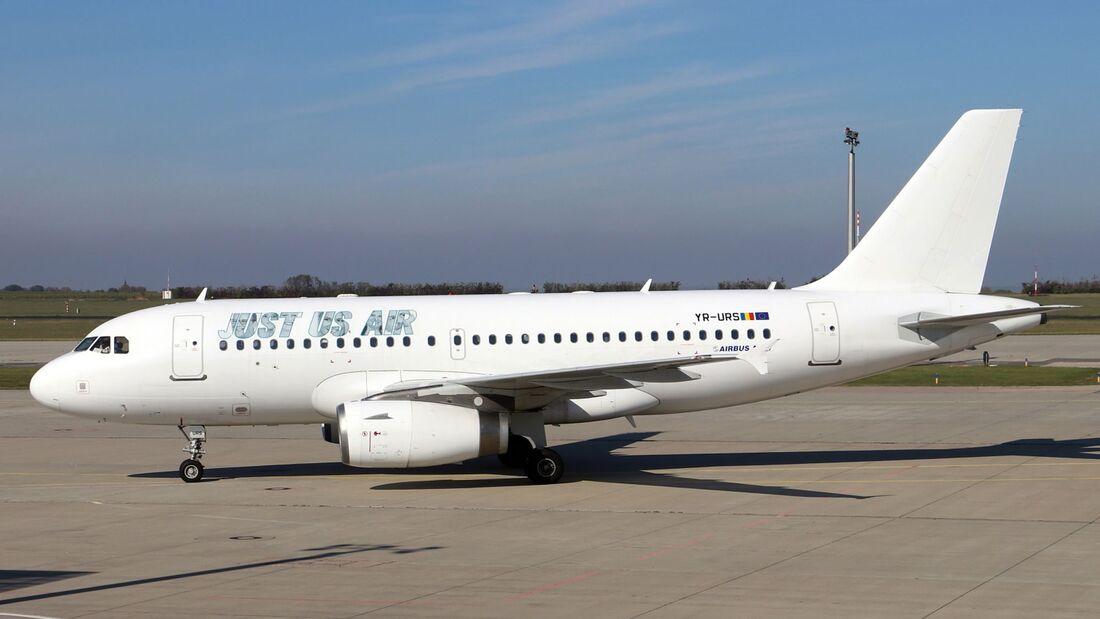 Just Us Air aus Rumänien fliegt für Green Airlines mit A319 ans Mittelmeer.