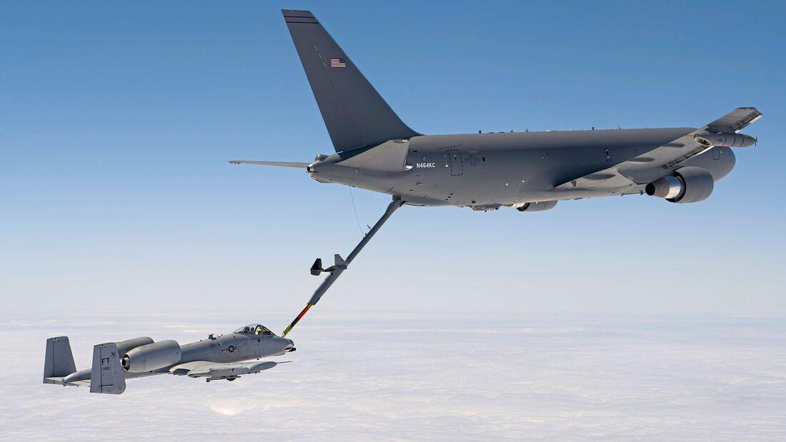 KC-46 refuels A-10