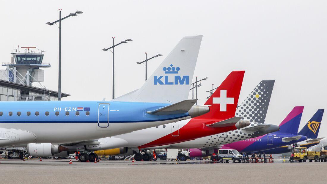 KLM, Helvetic, Vueling, Wizz Air, Ryanair