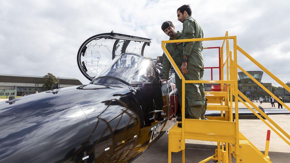 Katarische Piloten werden bei der Royal Air Force in Leeming auf BAE Hawk ausgebildet.