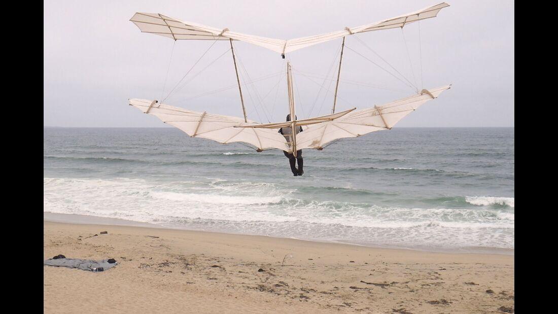 Lilienthal-Doppeldecker Flugtests 2019