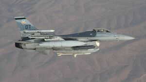 Lockheed Martin F-16 der US Air Force, stationiert auf der Nellis AFB.