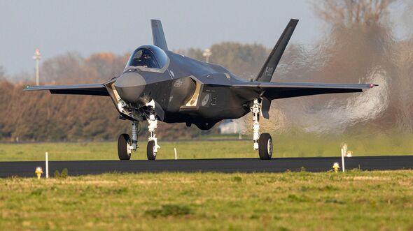 Lockheed Martin F-35A der Niederlande kommt am 31. Oktober 2019 in Leeuwarden an.