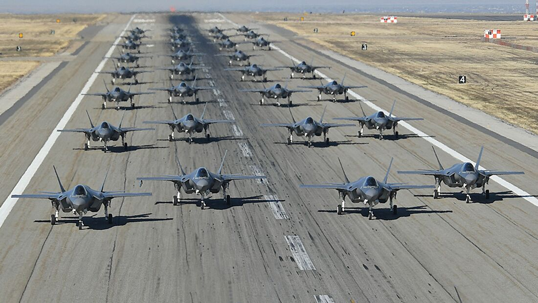 Lockheed Martin F-35A der US Air Force auf der Hill AFB.