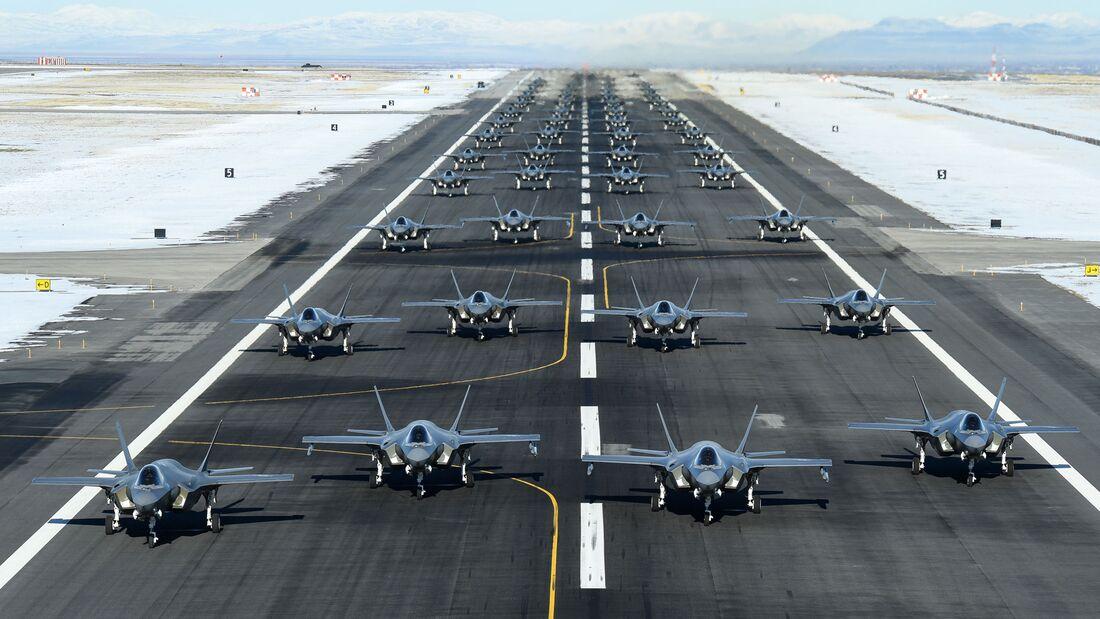 Lockheed Martin F-35A der US Air Force auf der Hill AFB.