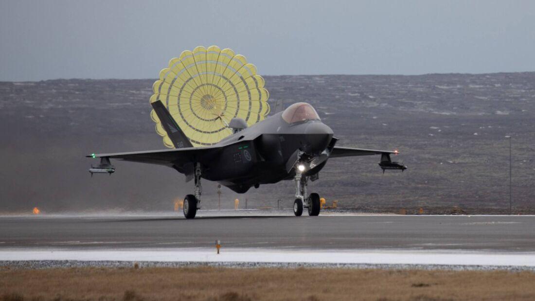 Lockheed Martin F-35A der norwegischen Luftstreitkräfte in Island.