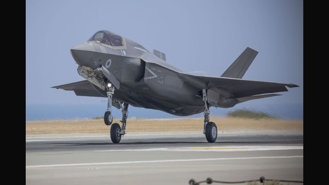 Lockheed Martin F-35B der RAF startet in Akrotiri.