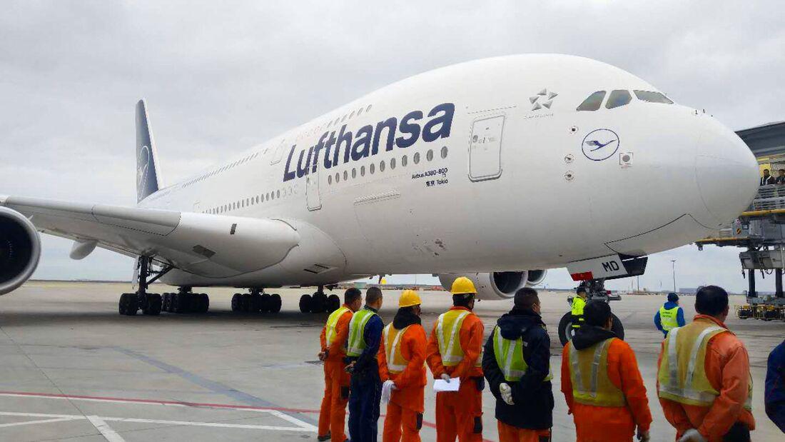 Lufthansa Airbus A380: Erster Flug nach Shanghai im Januar 2020.