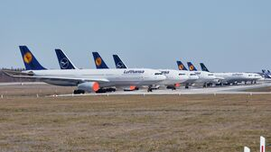Lufthansa hat derzeit den größten Teil der Flotte abgestellt.