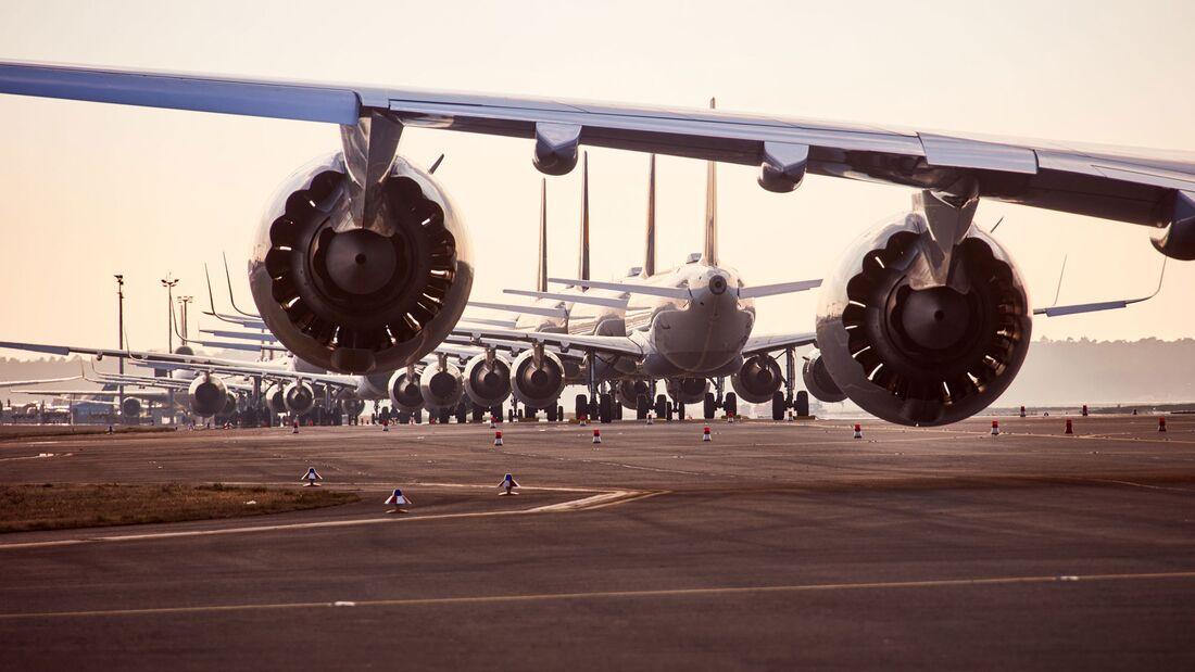 Lufthansa hat fast ihre gesamte Flotte abgestellt.