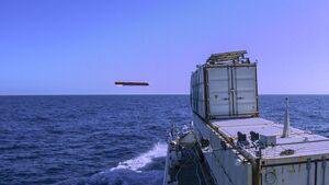 MBDA Sea Venom/ANL beim dritten Testflug im Februar 2020 vor der Ile Du Levant.