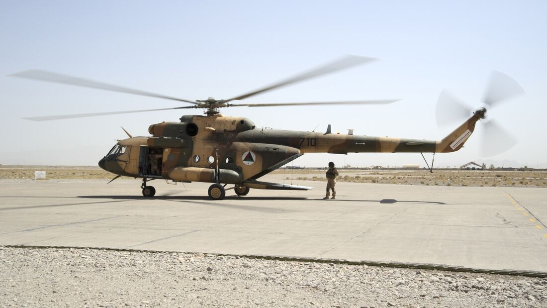 Mi-17 on the ramp in Shindand, Afghanistan