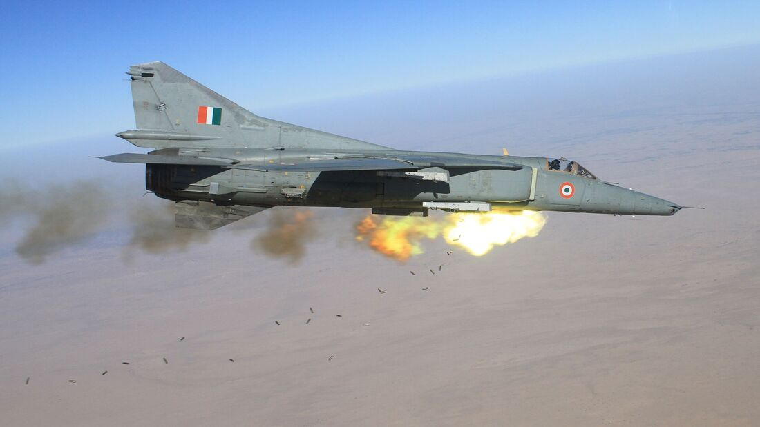 Mikojan MiG-27 der Indian Air Force.