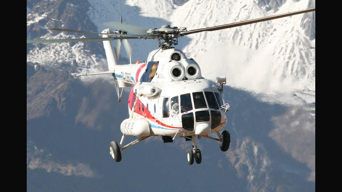 Mil Mi-171 Ende 2018 bei Vorführflügen in China.