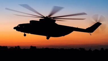 Mil Mi-26T2W im Flug.