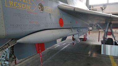 Mit der Hochrüstung auf den P2Eb-Standard können die Eurofighter der Luftwaffe auch die Meteor-Lenkwaffe nutzen.