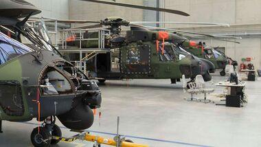 NH90 der Heeresflieger bei der Wartung.