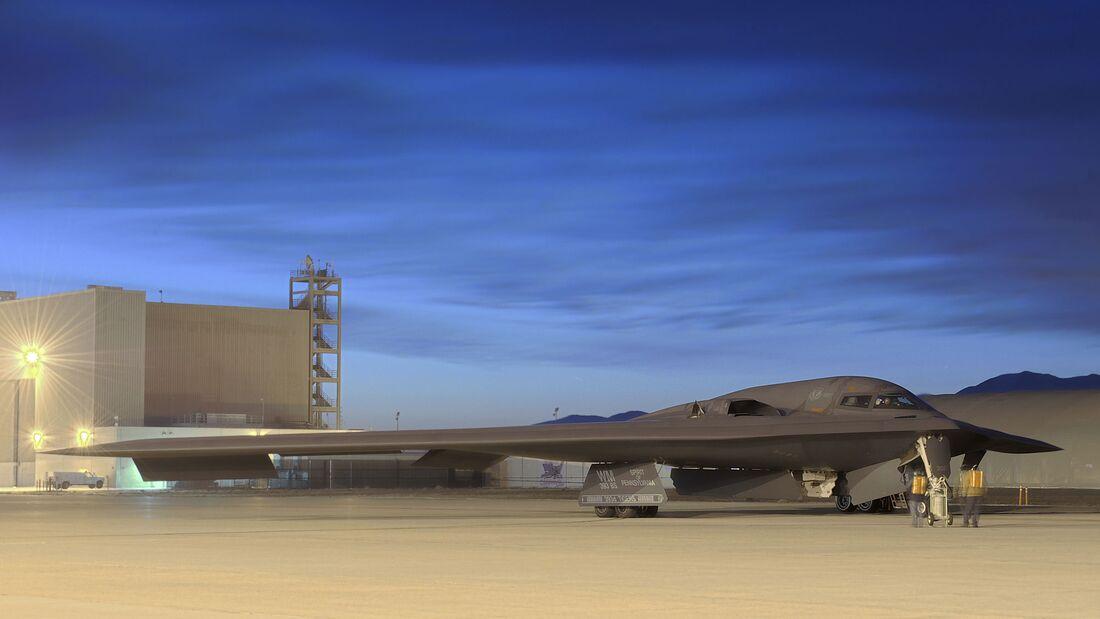 "Northrop Grumman B-2A ""Spirit of Pennsylvania"" wird neues Testflugzeug in Edwards AFB."