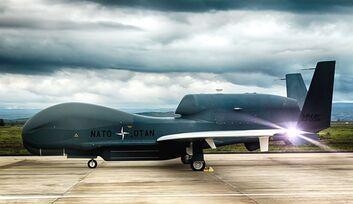 Northrop Grumman RQ-4D Phoenix (AGS) der NATO in Sigonella.