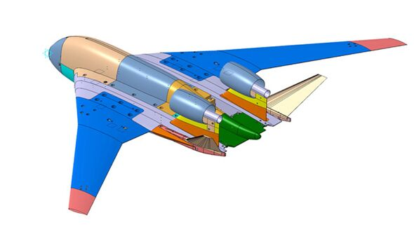 Nurflügler-Konzept des ZAGI aus dem März 2020.