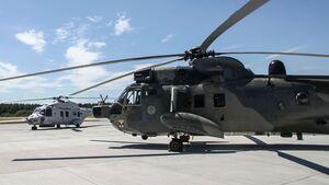 Ob alt oder neu, die Marine hat weiter große Probleme mit der Verfügbarkeit ihrer Hubschrauber (hier Sea Lion links und Sea King).