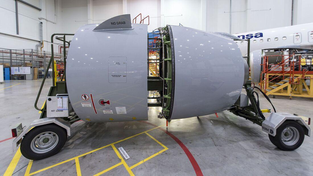 PW1100G-Triebwerksgondes für den Airbus A320neo.