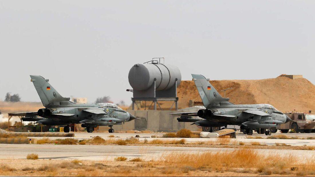Panavia Tornado der Luftwaffe in Al-Asrak, von wo aus Aufklärungsflüge für den Kampf gegen den IS durchgeführt werden.