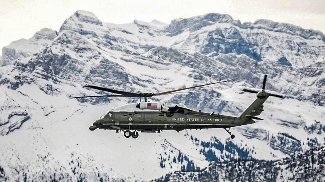 President Donald J. Trump arrives at Zurich Airport