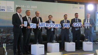 Pressekonferenz zur Ankündigung der European Rotors Messe in Köln im November 2020