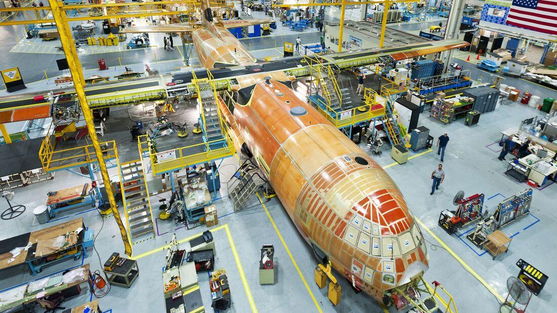 Produktion der C-130J bei Lockheed Martin in Marietta.