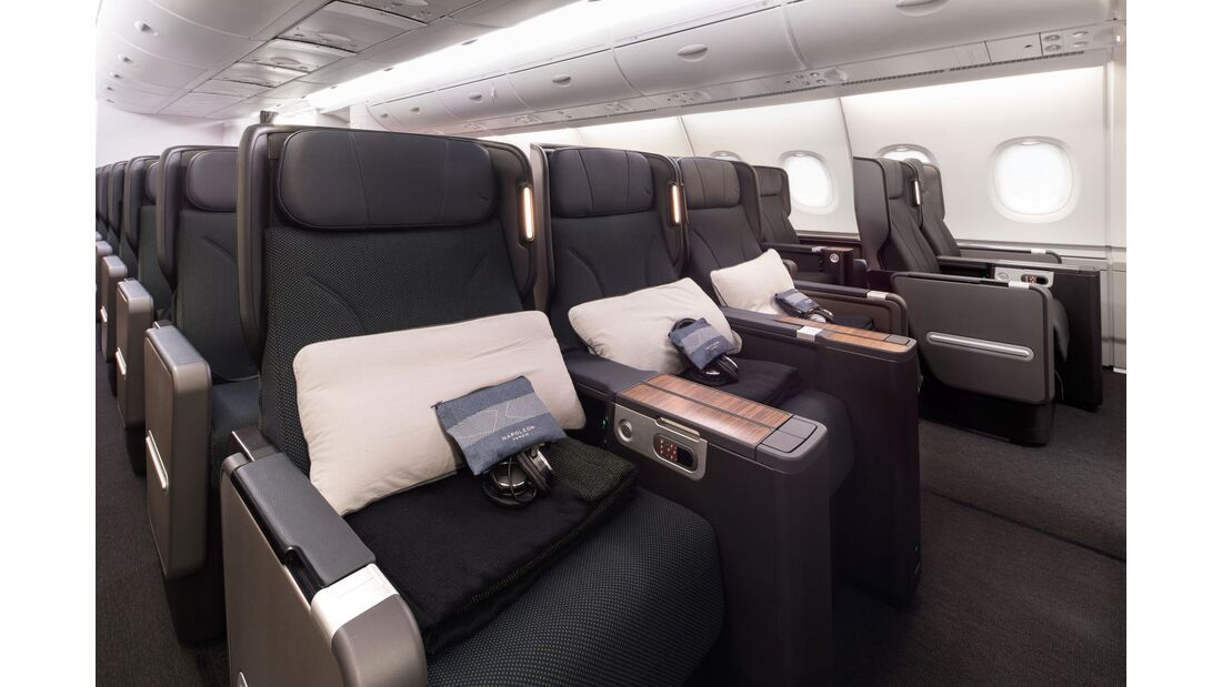 Qantas Airbus A380 mit neuer Kabinenausstattung: Premium Economy.