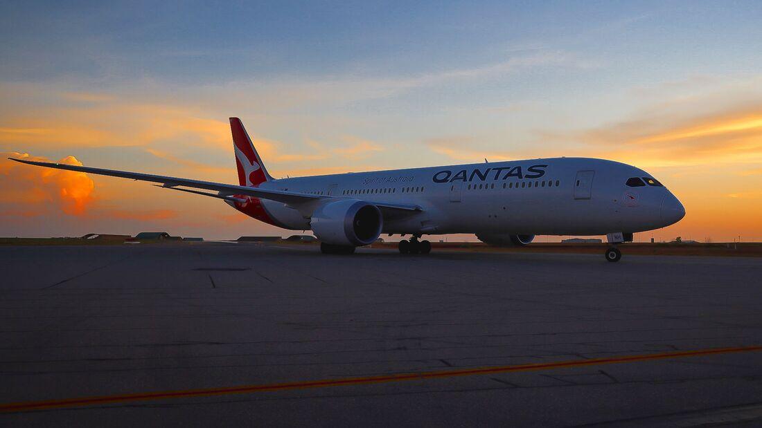Qantas flog mit einer Boeing 787-9 nonstop von Buenos Aires nach Darwin.