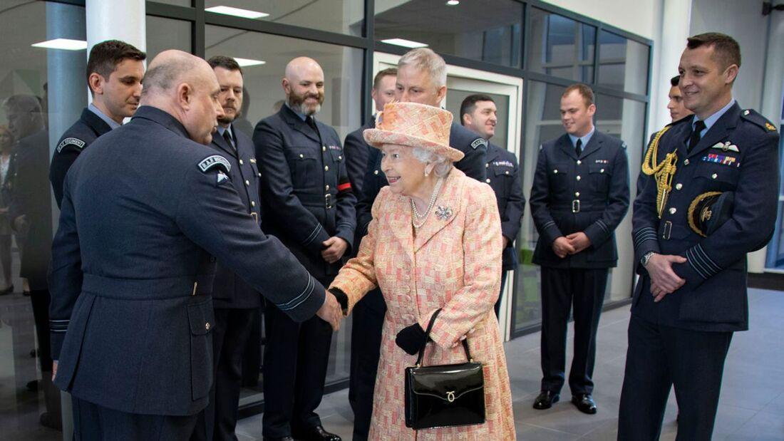 Queen Elizabeth besucht im Februar 2020 die RAF-Basis Marham.