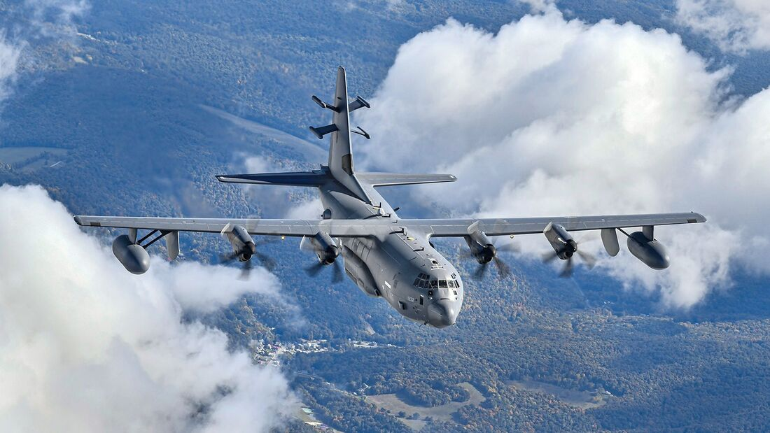 Refueling a EC-130J Commando Solo