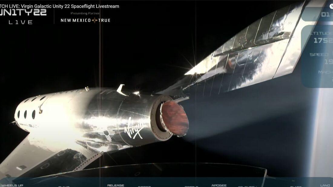Richard Branson war am 11. Juni 2021 bei einem Testlfug des SpaceShipTwo an Bord.