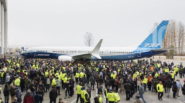 Rollout der Boeing 737 MAX 10 am 22. November 2019 in Renton.