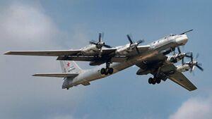 Russischer Langstreckenbomber Tupolew Tu-95MS.