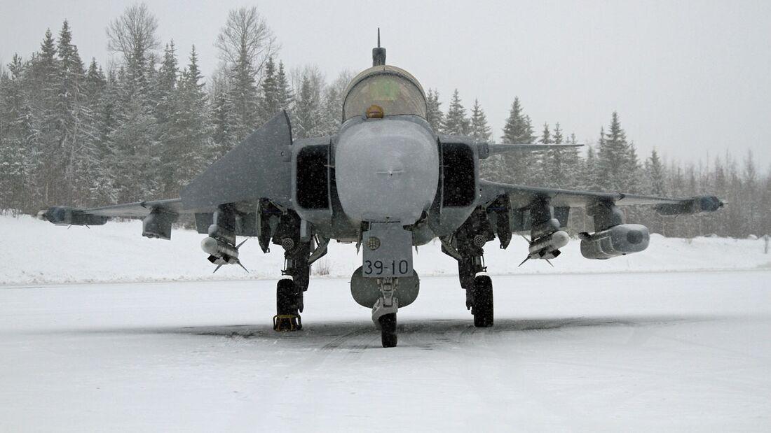 Saab Gripen E (Protoyp 39-10) in Pirkkala bei der HX-Challenge der finnischen Luftstreitkräfte.