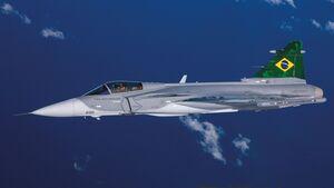 Saab Gripen E-Testflugzeug für die Brasilianischen Luftstreitkräfte.