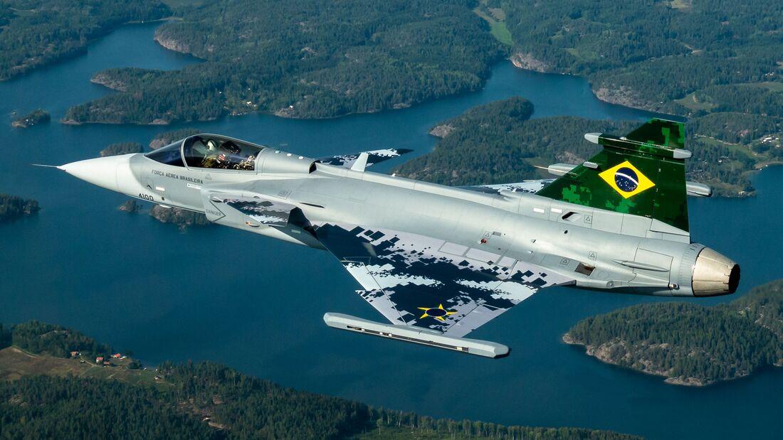 Saab Gripen E - erstes Flugzeug für Brasilien