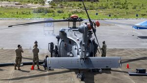 Schießversuche der HH-60W Jolly Green II auf der Eglin AFB in Florida im August 2020.