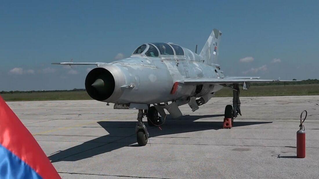 Serbien verabschiedete im Mai 2021 ihre letzte MiG-21, einen UM-Doppelsitzer.