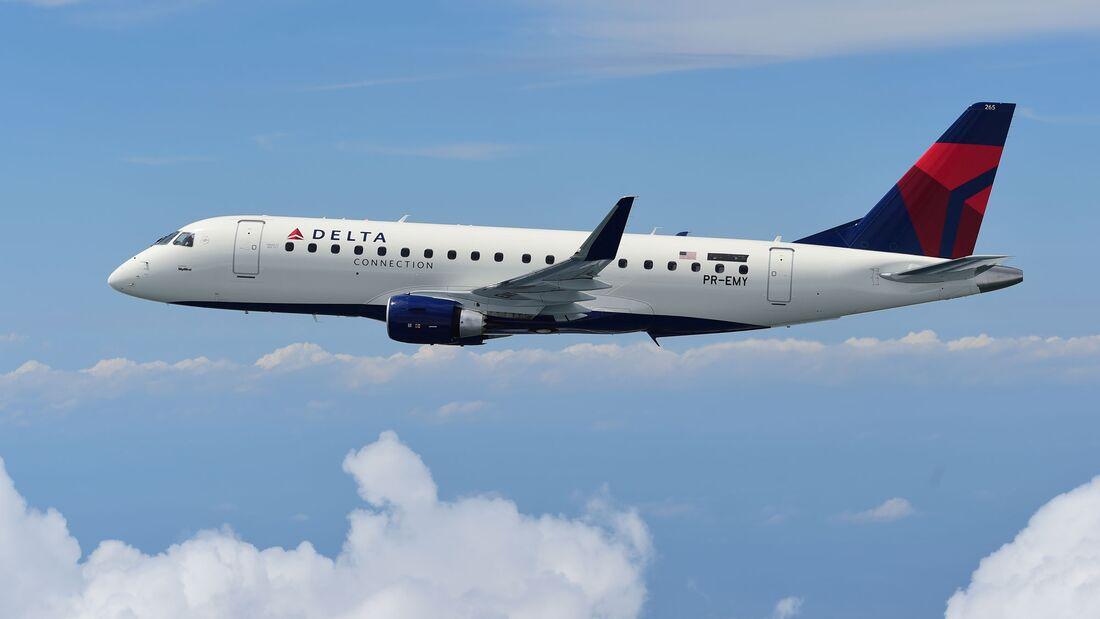 SkyWest betreibt eine große Flotte von Embraer E175 als Zubringer für Delta Air Lines.