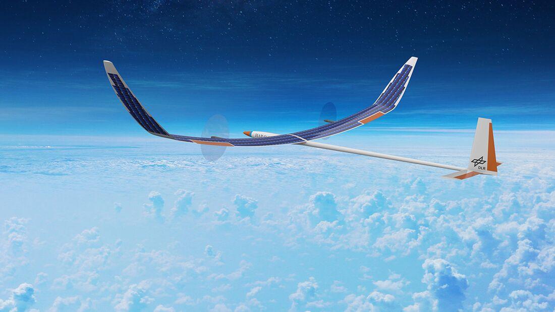 Stratosphärenflugzeug HAP alpha, entwickelt vom DLR.