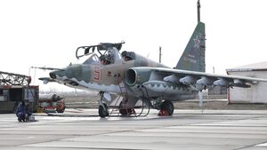 Suchoi Su-25SM3 des Regiments in Kuban (Südlicher Militärdistrikt).