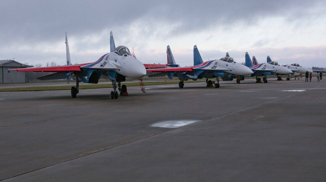 """Suchoi Su-35S für die """"Russischen Ritter""""."""