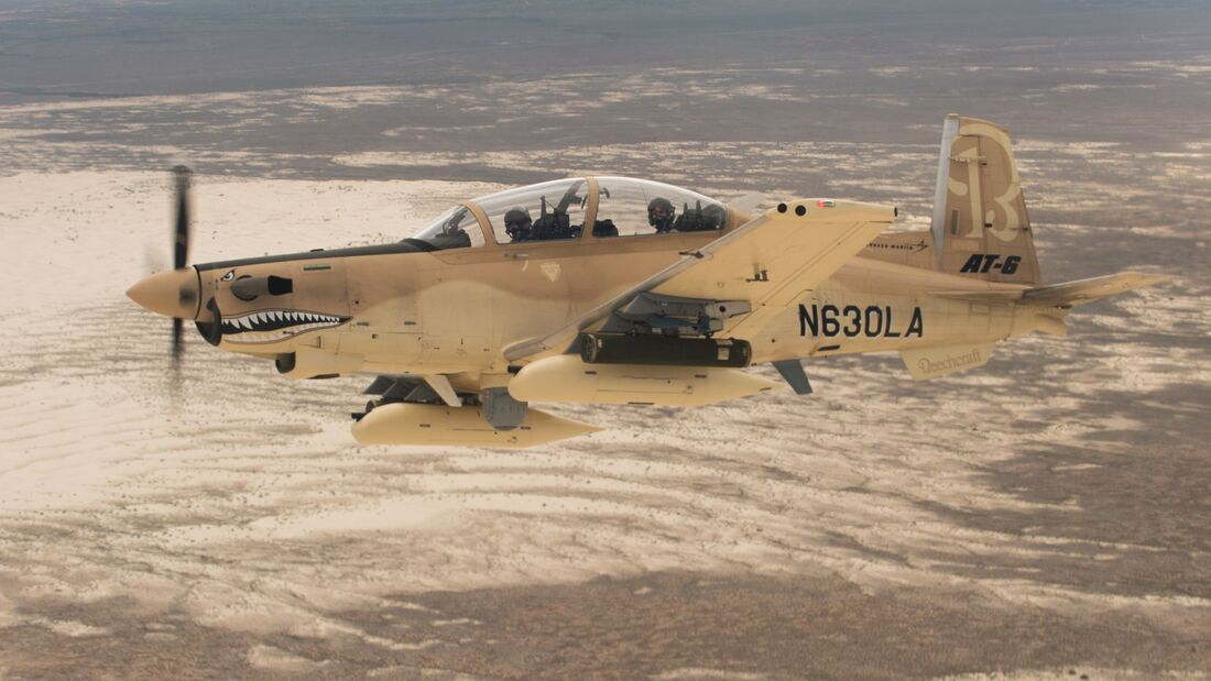 Textron Aviation AT-6 bei Tests der USAF.